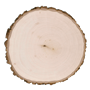 Thick basswood country round Side wood burning panel.