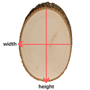 Basswood Round Measurements