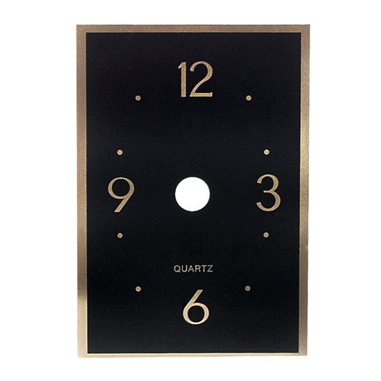 Metal Clock Face - Black Rectangle