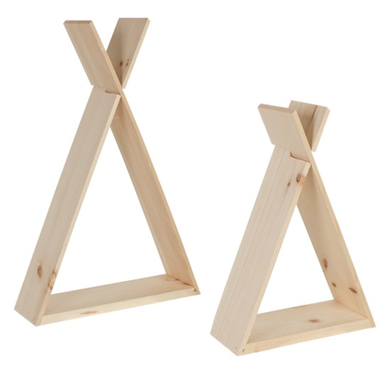 how to make a teepee shelf
