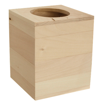 Wooden boutique tissue box
