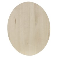 Oval Basswood Plaque, 8 X 10""