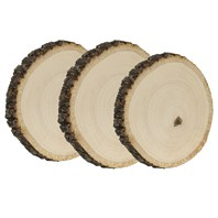 Basswood Country Round® Coaster, 3 Pack