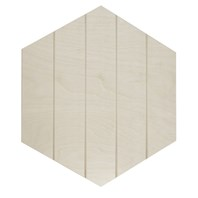 Paneled Hexagon Shape