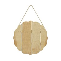 Small Scalloped Trivet with Jute