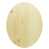 Oval Pine Plaque - Large