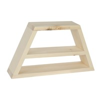 Trapezoid Shelf with Inner Shelf
