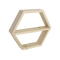 Hexagon Shelf with Inner Shelf