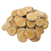 Natural Birch Ornament Assortment, 50 pcs
