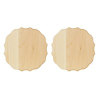 Medallion Thin Plaque, 2 Pack