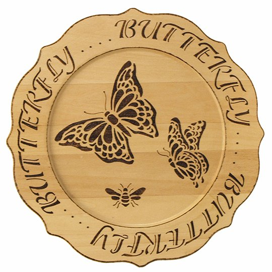 Butterfly-Plate-Wood-Burning-Project