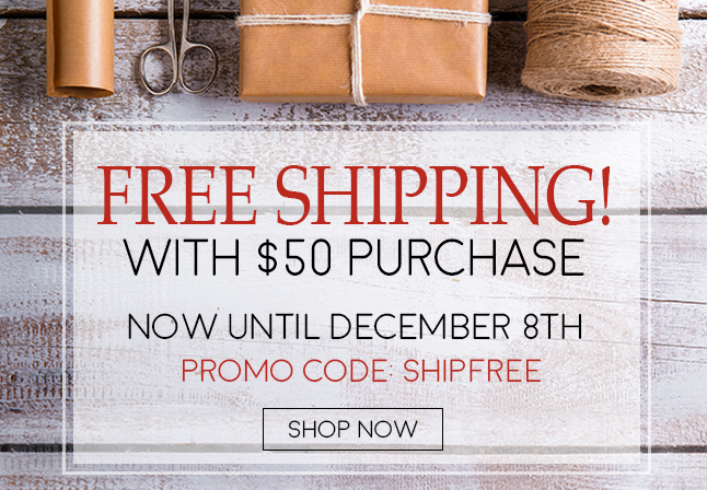 December 2016 Free Shipping $50.00 or more