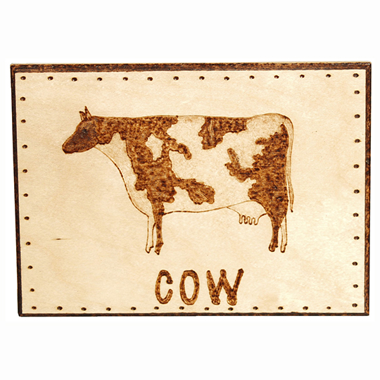 Cow-Plaque-Wood-Burning-Project
