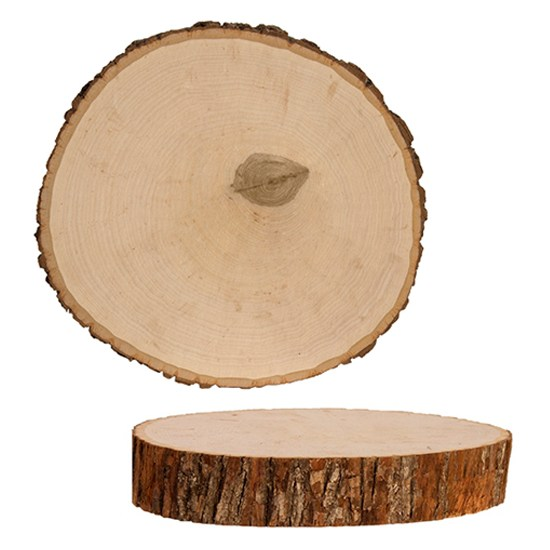 basswood round bark decor