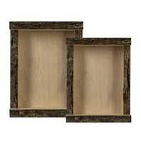 Bark Edge Shadow Boxes