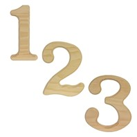 "6.5"" Wooden Numbers"