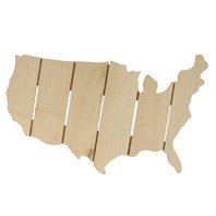 Rustic USA Map