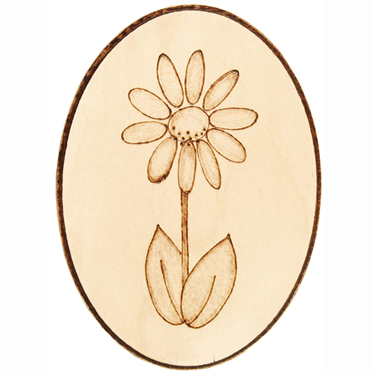 Flower-Plaque-Wood-Burning-Project