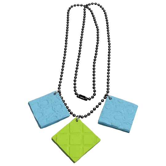 Square-Clay-Texture-Necklace