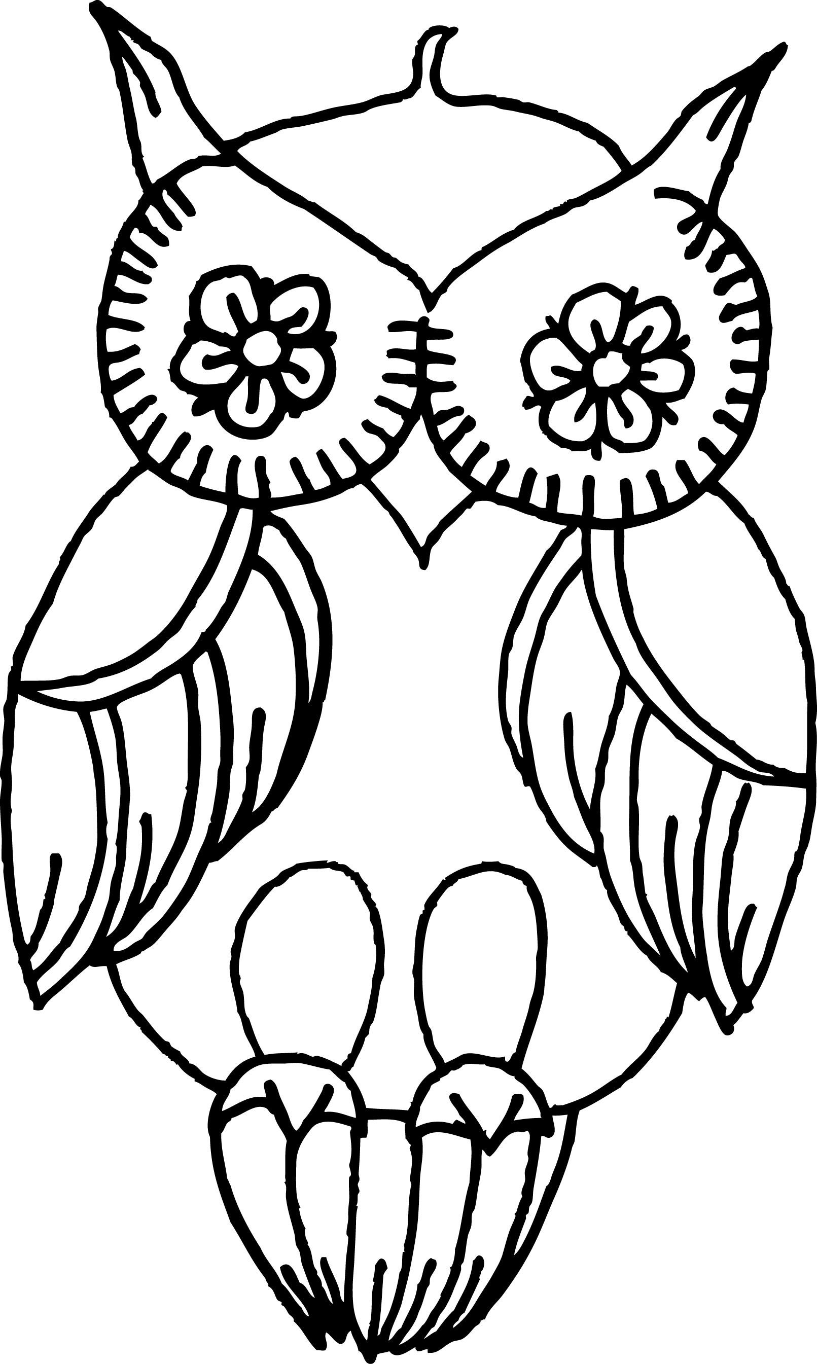 whimsical woodburned owl